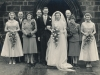 1952a, Malcolm & Jacqueline Wedding, ST. Barnabas Cathedral, Nottingham-FW