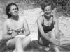 1952d, UNA & JACQUELINE TAKING THE SUN